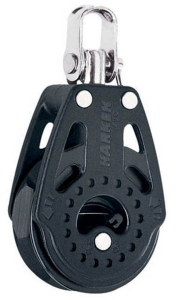 Harken Carbo Ratchet Blok 40 mm enkelt, svirvel