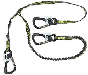 Spinlock Letvægts Livline 3 hager, 2 m elastikline